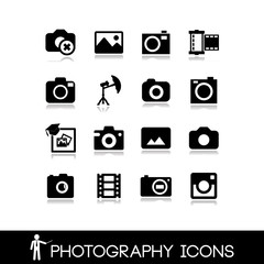 Photography, camera lens and accessories - Set icons 6