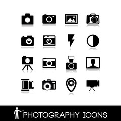 Photography, camera lens and accessories - Set icons 7