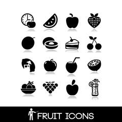 Fruit icon set 18 - citrus vectors