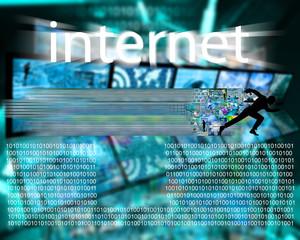 runs through the Internet
