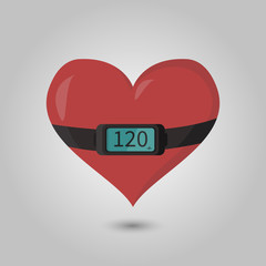 image of the heart with the heart rate monitor on it
