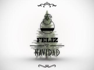 Composite image of feliz navidad banner