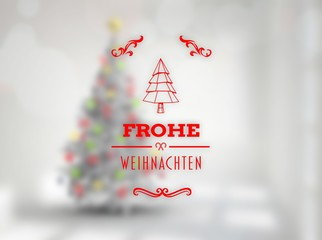 Composite image of frohe weihnachten banner