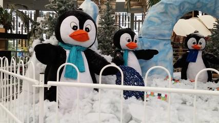 Muñecos de pingüinos