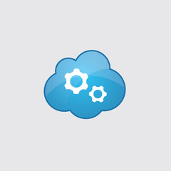 Blue Settings icon.