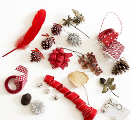 Set Christmas decorations