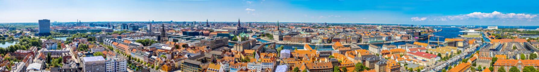 Foto op Canvas Copenhagen panorama