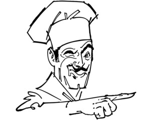 Pointing Chef