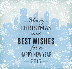Merry Christmas and Happy New Year text label