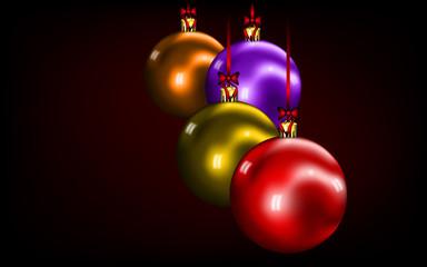 Bolas de navidad con lazos