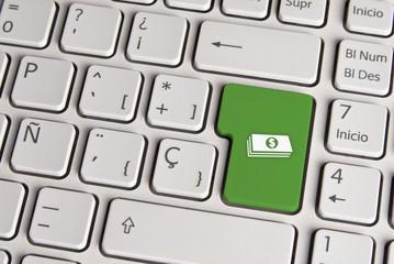 Money concept, cash keyboard key.