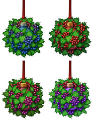 Christmas Holly Ball Ornament