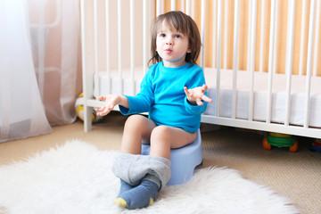 Little boy on potty