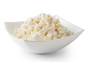 Cottage cheese in white plate