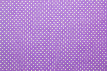 purple polka dot fabric