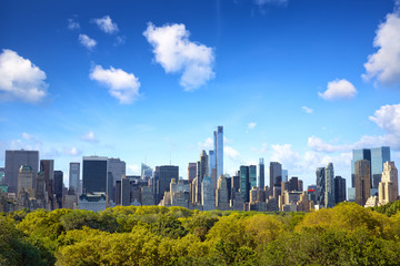 Manhattan skyline with Central Park in New York City