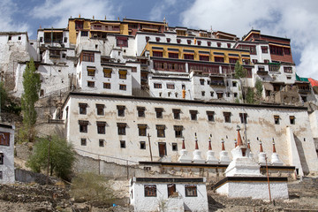 Tiksey Monastery is a Buddhist monastery in Ladakh, India ,