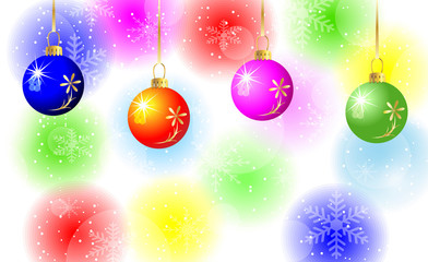 festive background with varicoloured balls
