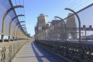 The pedestrian walkway on Sydney Harbour Bridge, Australia