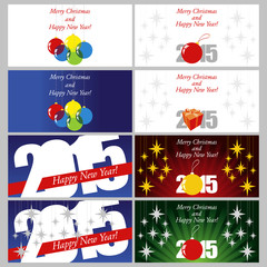 Set of 8 Christmas postcards