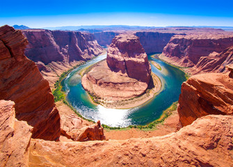 Deurstickers Canyon Horseshoe Bend on the Colorado River near Page, Arizona, USA