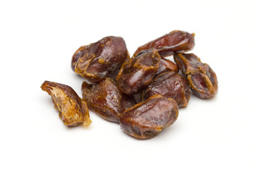dates on the white background