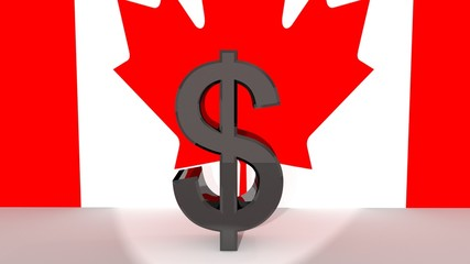 Canadian Dollar Symbol in Spotlight