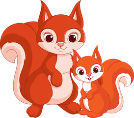 Squirrel and baby