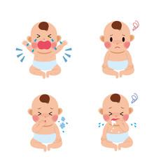 赤ちゃん 風邪 イラスト