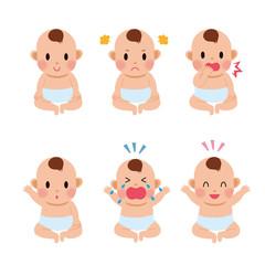 赤ちゃん 表情 イラスト