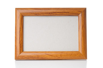 Picture frame on white background