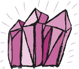 Cartoon gems and diamonds