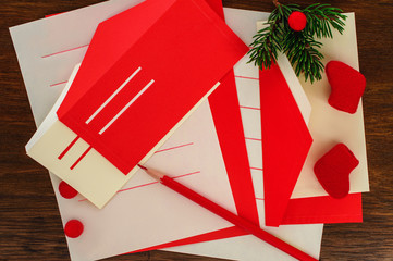 Letter to Santa and envelopes