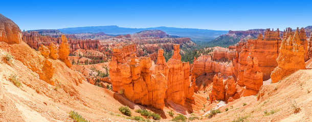 Spoed Fotobehang Canyon Panoramic view of Bryce Canyon National Park Utah, USA