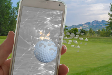 golf ball break a phone