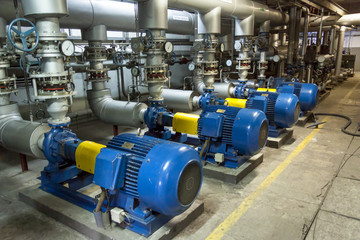 Fotobehang Industrial geb. Blue industrial pump