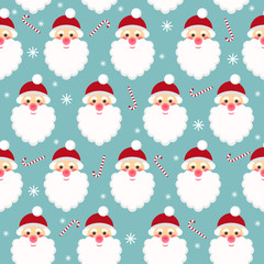 winter holidays seamless pattern background with funny cartoon S