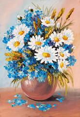 Obraz Oil Painting - still life, a bouquet of flowers - fototapety do salonu