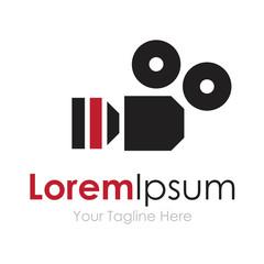 Professional movie screen camera concept elements icon logo
