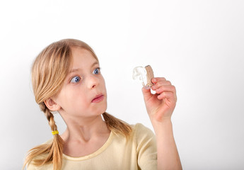 shocked by a hearing aid
