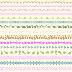 Seamless pattern composed of 15 borders