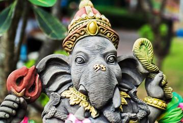 An Ganesha made of stone in bali .