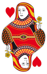 Queen of hearts without playing card background