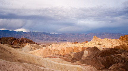 Sunrise Badlands Amargosa Mountain Range Death Valley Zabriske