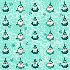 Pattern with santa