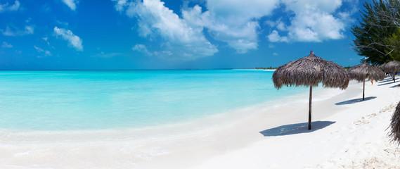 Aluminium Prints Beach Beautiful Caribbean beach panorama