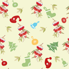 Seamless pattern with Christmas elements.