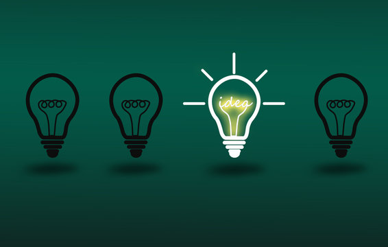 Light bulb light on Idea