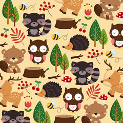 Animal woodland brown background