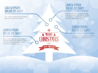 Christmas Tree vector infographic illustration concept